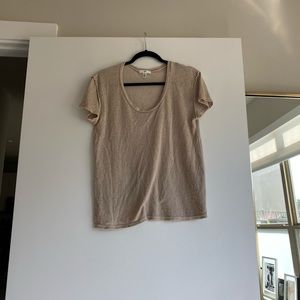 Xs BP tan sheer top